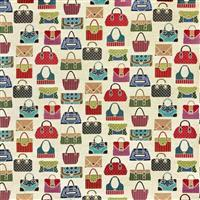 Multi Bags on Cream Fabric 0.5m