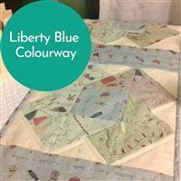 Swirls of Liberty Blue Table Runner Kit: Book, FQ (5pcs) & Fabric (1m)