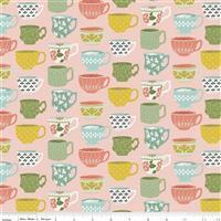 Riley Blake Tea With Bea Blush Tea Cup Fabric 0.5m