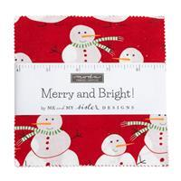 """Moda Merry & Bright 10"""" Charm Pack Of 42 Pieces"""
