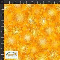 Flowers In The Wind Flowers & Nature Burnt Orange Fabric 0.5m