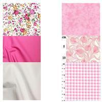 Button & Bow Mini Quilt Pink FQ Bundle (6pcs)