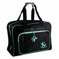 Sewing Machine Bag in Black & Turquoise