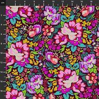 Anna Maria Horner Love Always Multi Pink Flower Fabric 0.5m