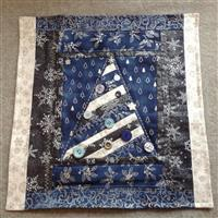 Sew with Beth Christmas Tree Cushion Kit Blue & Silver