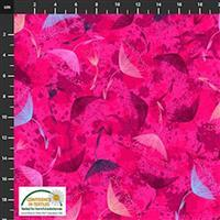 Flowers In The Wind Flowers & Nature Bright Pink Fabric 0.5m