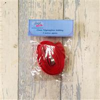 Living in Loveliness 25mm Polypropylene Webbing - Red 3m