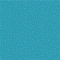 Forage Tiny Summer Flowers in Bright Blue Fabric 0.5m