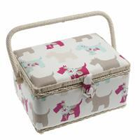 Sewing Box, Scottie Dog, Medium