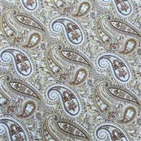 Shelby Paisley Cream Extra Wide Backing Fabric 0.5m (280cm Width)
