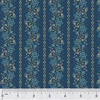 Kingston Floral on Navy Fabric 0.5m