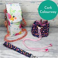 Living in Loveliness Fabulously Fast Fat Quarter Fun Issue 13 Sew Out and About; 3 x FQs & 1 x FQ Cork