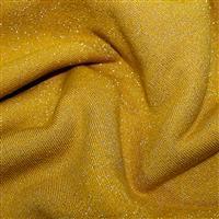 Ochre Cotton Lurex Jersey Fabric 0.5m
