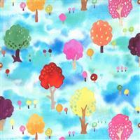 Moda Fanciful Forest  in Blue Forest Fabric 0.5m