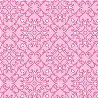 Henry Glass Heart & Soul in Pink Pattern Fabric 14m Bolt