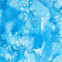 Moda Starflower Christmas Light Blue Fabric 0.5m
