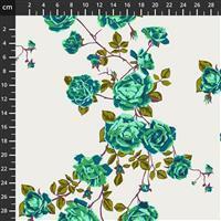 Anna Maria Horner Love Always Green Rose Stem Fabric 0.5m