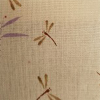 Dawa Japanese Dragonflies On Natural Fabric 0.5m