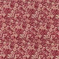 Floral on Claret Cotton Poplin Fabric Bundle (3m)