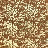 Printed Cork Vinyl Gold Flowers Fabric 0.5m