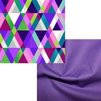 Henry Glass Purple Pyramids Fabric Bundle (1m)