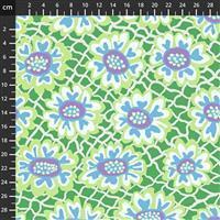 Kaffe Fassett Collective Green Flower Head Fabric 0.5m