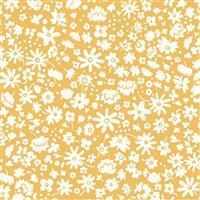 Liberty Carnaby Collection Bloomsbury Silhouette Yellow Fabric 0.5m