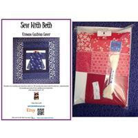 Sew with Beth Kimono Cushion Kit: Red & Ivory
