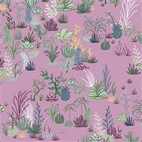 Michael Miller Greenhouse Gardens in Budding Purple Fabric 0.5m