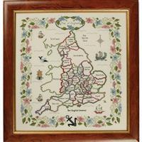 The Cross Stitch Guild Map of England on Linen - New to Sewing Street