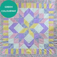 Henry Glass Nana Mae Green Star Lap Quilt Kit: Instructions & Fabric (3m)