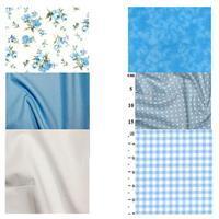 Button & Bow Mini Quilt Blue FQ Bundle (6pcs)