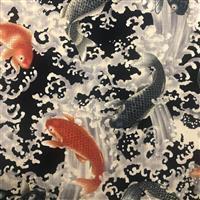 Zono Japanese Koi on Navy Blue Fabric 0.5m