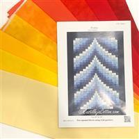 Sunset Bargello Quilt Kit: Instructions, FQ (8pcs) & Fabric (1m)