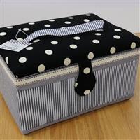 Large Polka Dot Sewing Box