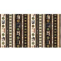 Dan Morris Sew Lovely Sewing Machine Stripes On Black Fabric 0.5m