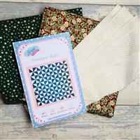 Living in Loveliness Christmas Pin Wheel Quilt Kit - Option 2
