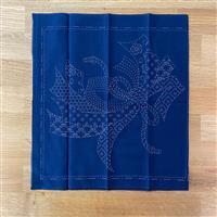 """Sashiko Noshi Fabric Panel 30x30cm (12 x 12"""")"""