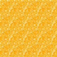 Show Me the Honey in Plain Yellow Honeycomb Fabric 0.5m