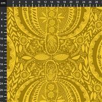 Anna Maria Horner Love Always Yellow Paisley Fabric 0.5m