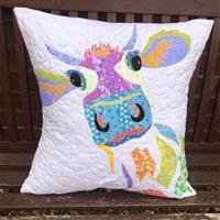 Delphine Brooks Rainbow Dairy Cow Cushion Kit: Instructions, Fabric Panel & Fabric (0.5m)