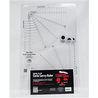 Creative Grids® Non-Slip Circle Savvy Slotted Ruler