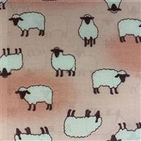 Sheep On Pink Fabric 0.5m - exclusive