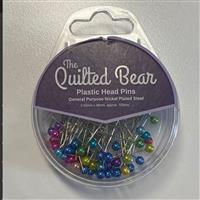 Plastic Head Pins Assorted Colours