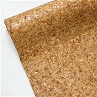 Cork Vinyl Silver Sparkle Fabric 0.5m