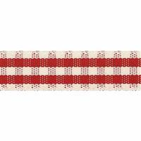 Rustic Gingham Ribbon Red 1m x 7mm