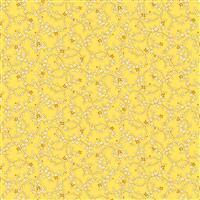Henry Glass Nana Mae V Yellow Daisy Chain Fabric 0.5m