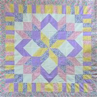 Henry Glass Nana Mae Pink Star Lap Quilt Kit: Instructions & Fabric (3m)