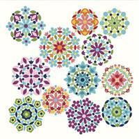 Riley Blake Gemstones Brights Cloud Fabric Panels 1m x 1m