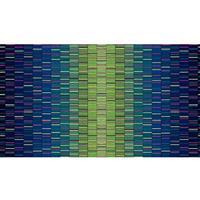 Henry Glass Mid Century Modern Green Ombre Panel 0.6m